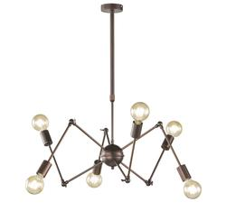 Suspension 6 lampes design Wofi Carmona Antique 6445.06.09.8000