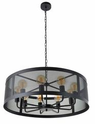 Suspension 9 lampes design Corep Stock Noir Métal PR503236