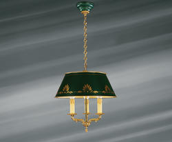 Suspension bouillotte 3 lampes bronze Lucien Gau Empire 156532503002