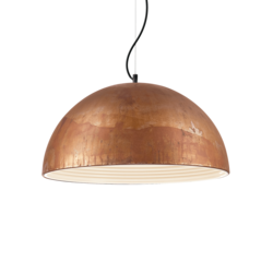 Suspension design Ideal lux Folk Rouille Métal 174228