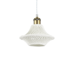 Suspension design Ideal lux Lugano Blanc Céramique 206806