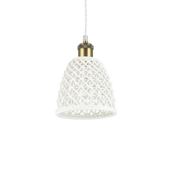 Suspension design Ideal lux Lugano Blanc Céramique 206820