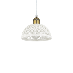 Suspension design Ideal lux Lugano Blanc Céramique 206844