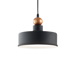 Suspension industrielle Ideal lux Triade Noir Métal 221489