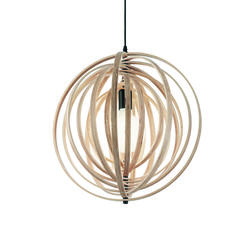 Suspension design Ideal lux Disco Beige Bois 138275