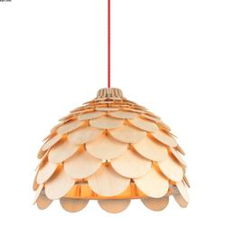 Suspension design Lo design Ananas Beige Bois LO00020894