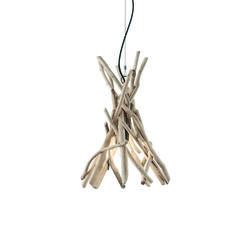 Suspension en bois flotté Ideal lux Driftwood Beige Bois 129600