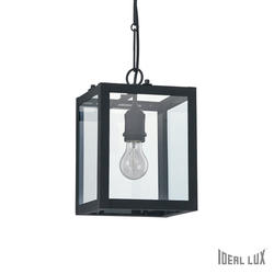 Suspension industrielle Ideal lux Igor Noir Métal + Verre 092850