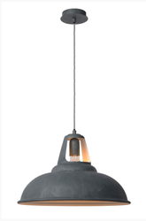 Suspension industrielle Lucide Gris Acier 30396/45/36