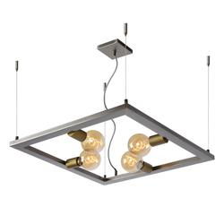 Suspension industrielle Lucide Thor Gris Métal 73403/04/18