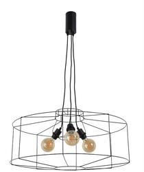 Suspension industrielle Market set Wayne Noir Métal PR590107