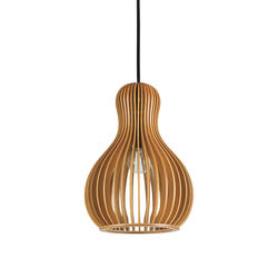 Suspension scandinave Ideal lux Citrus Beige Bois 159867