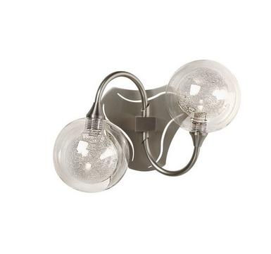 Applique 2 lampes design Cvl Gaia Nickel Laiton massif Gaia APL 2 nickel S100