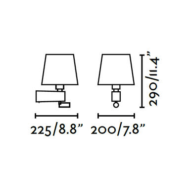 Applique 2 lampes led Faro Room Nickel mat 29976