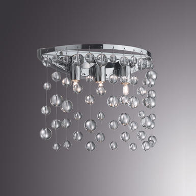 Applique 3 lampes design Ideal lux Neve Chrome 033938