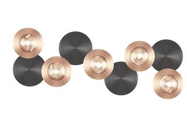 applique 5 lampes design cvl dots laiton massif dots c 5l m t ore appliques design chez. Black Bedroom Furniture Sets. Home Design Ideas