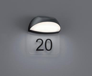 applique ext rieure led trio gris anthracite aluminium. Black Bedroom Furniture Sets. Home Design Ideas