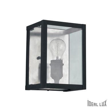 Applique industrielle Ideal lux Igor Noir Métal + Verre 092836