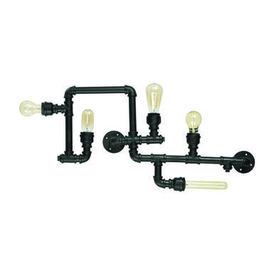 Applique industrielle Ideal lux Plumber Noir Métal 136707