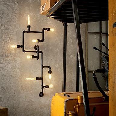 Applique industrielle Ideal lux Plumber Noir Métal 136714