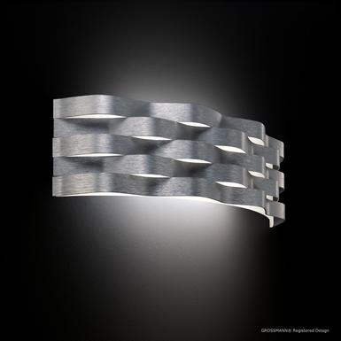 Applique led Grossmann Curve Gris métallique Aluminium 52-788-072