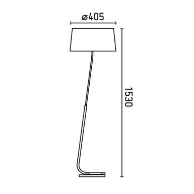 lampadaire design faro hotel abat jour blanc m tal 29943 lampadaires design chez luminaires online. Black Bedroom Furniture Sets. Home Design Ideas