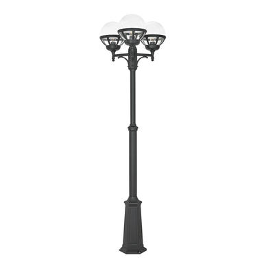 lampadaire ext rieur 3 lampes classique norlys bologna fonte d 39 aluminium 364 lampadaires. Black Bedroom Furniture Sets. Home Design Ideas