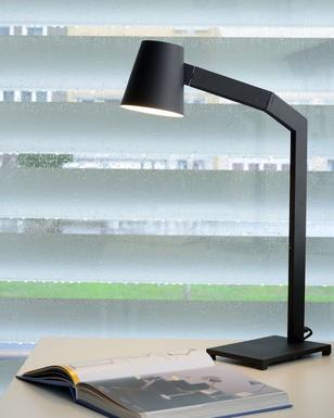 De Métal Lampe Design Noir Mizuko 206100130 Lucide Bureau 0nmw8vN