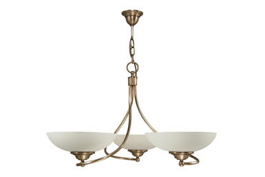 Lustre 3 lampes classique Cvl cluny Laiton massif LUHYER3BR5160O