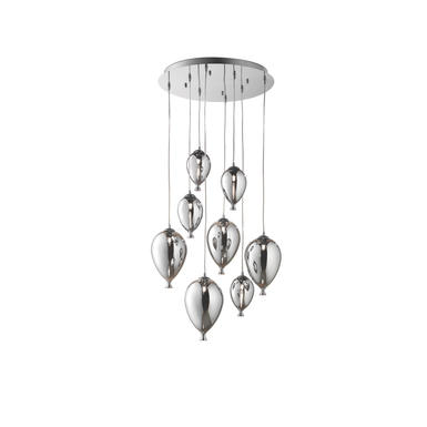 Lustre 8 lampes design Ideal lux Clown 100913