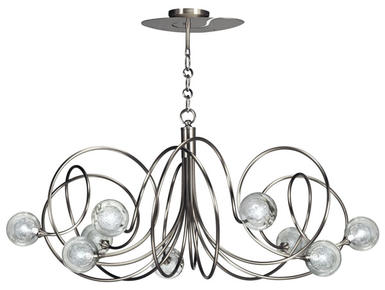 Lustre 9 lampes design Cvl Hypnos Laiton massif LUHYPN9NIS100C