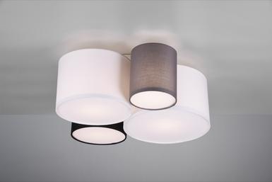 Tissus Hotel Plafonnier 693900417 Trio 4 Design Lampes Métal 1clKJF