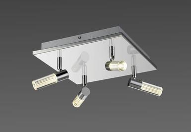 Plafonnier 4 Spots Led Lo Design Chrome Metal Lo00014467 Spots