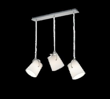 Design Online Blanc – Trio Métal 3 Suspensions Tissus Lampes Luminaires 01 306800307 Suspension Chez Meran htrxdsQC