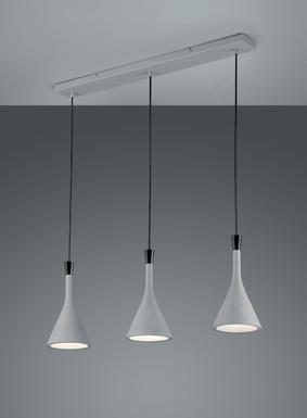 Suspension 3 Lampes Design Trio Roddik Blanc Metal 301100378