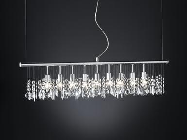 Suspension 9 lampes design Action Crystal Chrome 725809010000