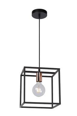 suspension industrielle lucide arthur noir metal 08424 01 30