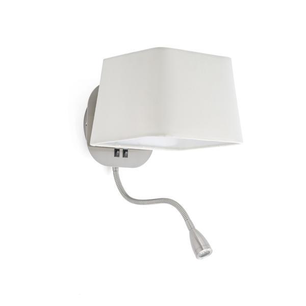 applique avec liseuse faro sweet nickel m tal 29935 appliques avec liseuse chez luminaires online. Black Bedroom Furniture Sets. Home Design Ideas