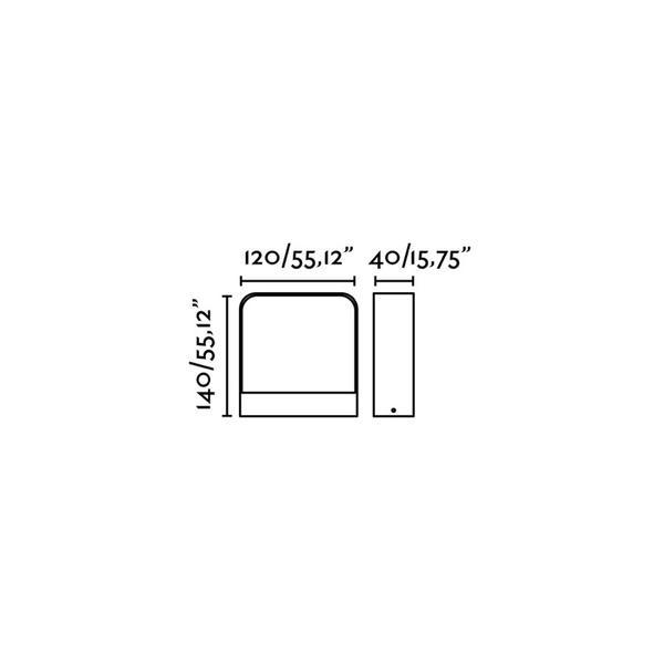 Applique 71273 Extérieure Anthracite Bidirectionnelle Faro Axel Gris Aluminium e29DHIYbWE