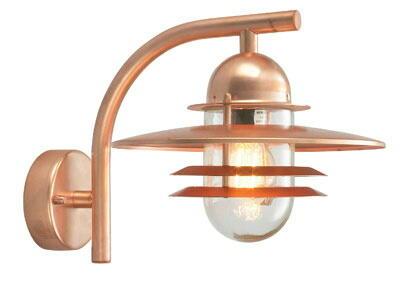 Oslo Norlys 240ko Design Extérieure Cuivre Applique P0nO8kw