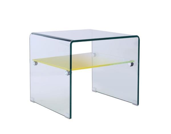bout de canap en verre mobilier d co jaune verre arv ga201 tables design chez luminaires online. Black Bedroom Furniture Sets. Home Design Ideas