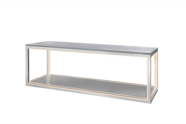 Sompex Etagère Aluminium Gris lumineuse 78960 Delux 9DHEYW2I