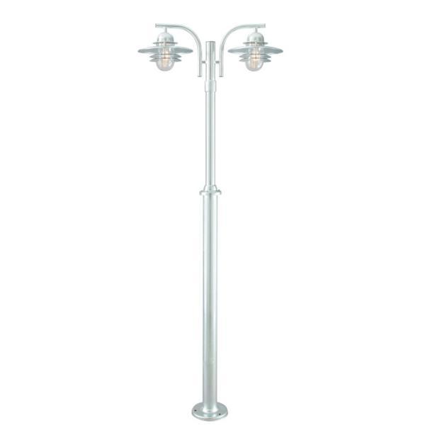 Lampadaire ext rieur t lescopique 2 lampes design norlys for Lampadaire exterieur contemporain