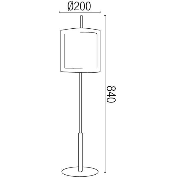 lampe design faro saba acier tissu 68546 lampes design. Black Bedroom Furniture Sets. Home Design Ideas