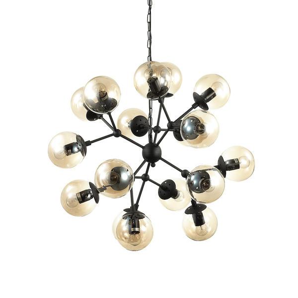 Industriel Noir 18 Kepler Lux Métal 162478 Lustre Lampes Ideal JcFK1l