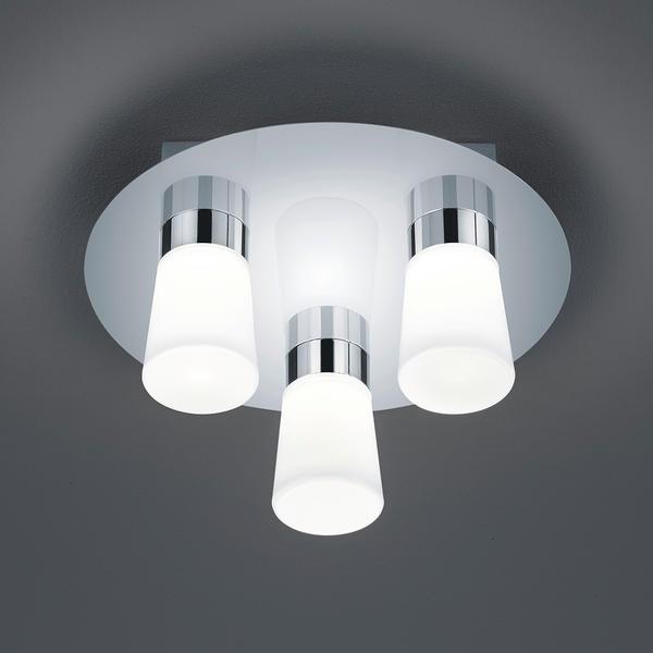 Plafonnier 3 lampes led Trio H2O Chrome Métal 682310306