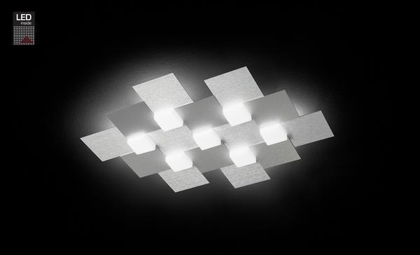 Grossmann 77 7 Plafonnier Gris Aluminium Métallique Créo Lampes Led 770 072 Brossé rCdxBoeW