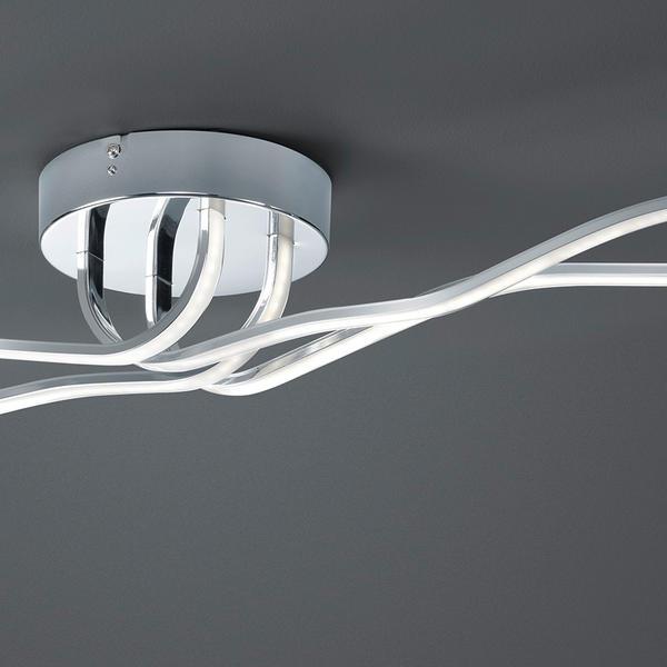 plafonnier led trio catoki chrome m tal 676413606 plafonniers led chez luminaires online. Black Bedroom Furniture Sets. Home Design Ideas