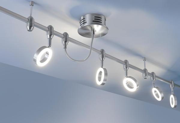 spots 5 lampes led neuhaus sileda 2952 96 spots sur cable ou rail chez luminaires online. Black Bedroom Furniture Sets. Home Design Ideas
