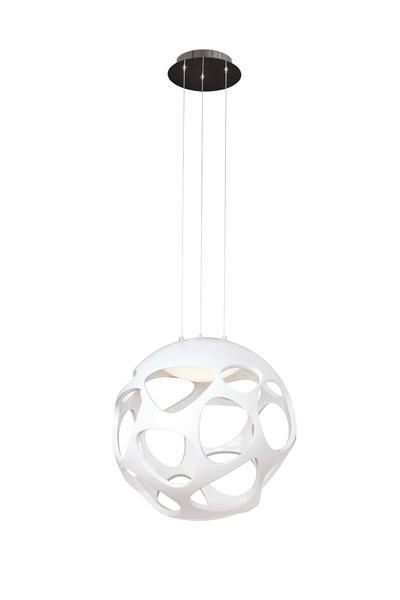 Lampes Organica 3 Blanc Led Mantra Suspension 5140 Polymère 8mvNnw0